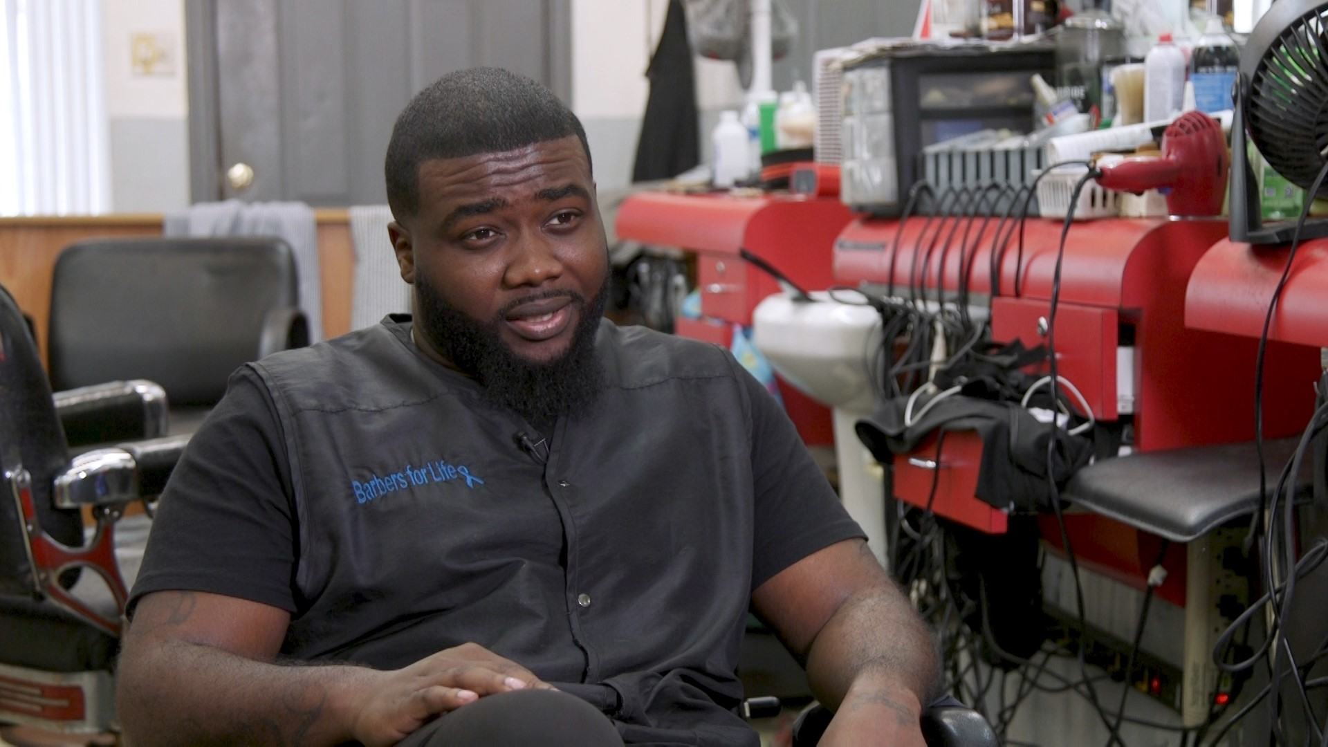 Brandon Richardson, a barber at Master's Barbershop in Rocky Mount, speaks about his participation in the Edgecombe County Barbershop Partnership.